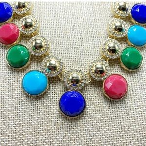 Statement necklace multi color